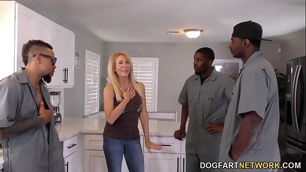 Anal Schlampe Cougar Erica Lauren Interracial Gangbang