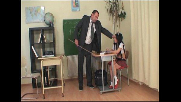 Please teacher, don't hurt my ass…