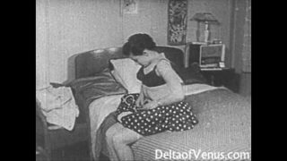 Vintage Porno 1950er Jahre – Rasierte Pussy, Voyeur Ficken